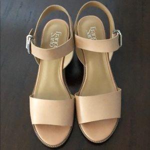 Size 11 Franco Sarto natural sandals